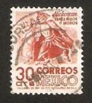 Stamps : America : Mexico :  Danza de los moros, tradicional de Michoacan
