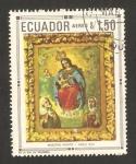 Stamps : America : Ecuador :  Virgen con el Niño, pintura Maestro Ignoto