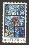 Sellos del Mundo : America : ONU : Vidriera de Marc Chagall, en la secretaria de la ONU