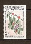 Stamps Africa - Central African Republic -  PROTECCIÓN   DE   LA   FLORA