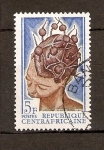 Stamps Africa - Central African Republic -  PEINADO   AFRICANO
