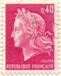 Stamps Europe - France -  Postes Republique française magenta