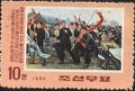 Sellos de Asia - Corea del norte -  Luchas por la reunificación de Corea. KIM Il SUNG y seguidores con banderas.