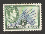 Stamps Oceania - Solomon Islands -  58 - George VI, lanzas