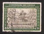 Stamps : America : Chile :  centº de la muerte de  b. o
