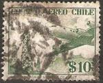 Stamps : America : Chile :  avión y refinería