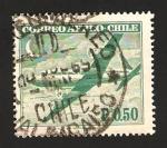 Stamps : America : Chile :  avión douglas DC- 6