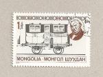Sellos de Asia - Mongolia -  Vagón de tren antiguo