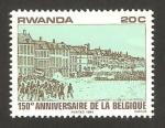Sellos del Mundo : Africa : Rwanda : 150 anivº de la independencia de Bélgica