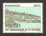 Stamps : Africa : Rwanda :  150 anivº de la independencia de Bélgica