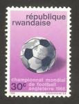 Sellos del Mundo : Africa : Rwanda : mundial de fútbol Inglaterra 66
