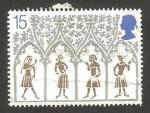 Sellos de Europa - Reino Unido -  Navidad, 800 anivº de la catedral de ely