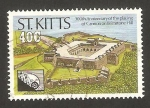 Stamps America - San Cristóbal Island -  300 anivº del bombardeo inglés a la colina de brimstone