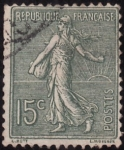 Stamps Europe - France -  SEMBRADORA CON FONDO RAYADO