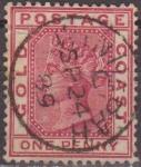 Stamps Africa - Ghana -  Costa de Oro 1884 Scott 13 Sello º Reina Victoria Gold Coast Queen Victoria