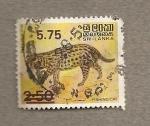 Stamps Asia - Sri Lanka -  Tigre pescador
