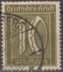 Sellos de Europa - Alemania -  Deutsches Reich 1922 Scott 138 Sello Serie Basica Numeros 10 Usado Alemania