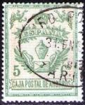 Stamps Europe - Spain -  ESPAÑA 1918 Sello Caja Postal de Ahorros 5c Usado Espana Spain Espagne Spagna Spanje Spanien