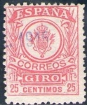 Stamps Europe - Spain -  ESPAÑA 1920 Sello º Correos Giro 25c Spain Espagne Spagna Spanje Spanien