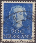 Sellos del Mundo : Europa : Holanda : Holanda 1949 Scott 311 Sello Reina Juliana 20c usado Netherland