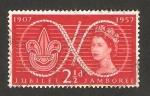 Sellos de Europa - Reino Unido -  centº del nacimiiento de lord baden powell y 50 anivº del scoutismo