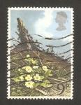 Stamps United Kingdom -  flor primavera