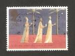 Stamps : Europe : United_Kingdom :  Navidad, reyes magos guiados por la estrella