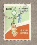Sellos del Mundo : Asia : Sri_Lanka : Supervivencia y desarrollo infantil