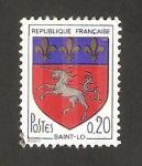 Stamps : Europe : France :  1510 - Escudo de armas de la ciudad de Saint-Lo