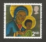 Stamps : Europe : United_Kingdom :  navidad, la virgen de haiti