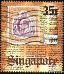 Stamps Asia - Singapore -  Conmemorativo de la exhibición internacional de sellos Londres 1980.