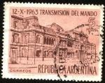 Sellos de America - Argentina -  Casa Rosada. Transmisión de mando año 1963.