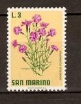 Sellos de Europa - San Marino -  DIANTHUS   PLUMARIUS