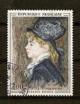 Stamps France -  Cuadro de Renoir / Retrato (anonimo)