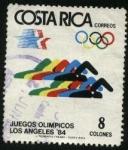Stamps Costa Rica -  Juegos Olímpicos Los Angeles 84.