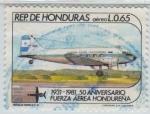 Stamps Honduras -  Fuerza Aérea Hondureña