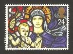 Stamps : Europe : United_Kingdom :  navidad, vidriera