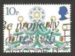 Sellos de Europa - Reino Unido -  navidad, árbol de navidad