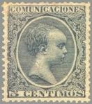 Sellos de Europa - España -  ESPAÑA 1889-99 216 Sello Nuevo Alfonso XIII Tipo Pelón 5c Verde