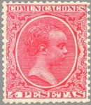 Stamps Spain -  ESPAÑA 1889-99 227 Sello Nuevo Alfonso XIII Tipo Pelón 4p Rosa