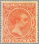 Sellos de Europa - España -  ESPAÑA 1889-99 228 Sello Nuevo Alfonso XIII Tipo Pelón 10p Bermellon