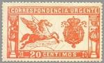 Stamps Europe - Spain -  ESPAÑA 1905 256 Sello Nuevo Pegaso 20c Rojo Numero de Control al dorso