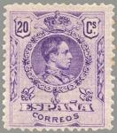 Sellos de Europa - España -  ESPAÑA 1909 273 Sello Nuevo Alfonso XIII Tipo Medallón 20c Violeta numero de control al dorso