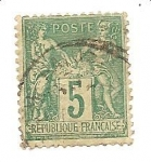Stamps France -  correo terrestre