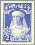 Sellos de Europa - España -  ESPAÑA 1926 326 Sello Nuevo Pro Cruz Roja Española 2c Azul Celeste Reina Victoria Eugenia con unifor