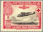 Stamps Europe - Spain -  ESPAÑA 1926 343 Sello Nuevo Pro Cruz Roja Española Avión Plus Ultra Travesia Palos Buenos Aires 25c