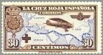 Sellos de Europa - España -  ESPAÑA 1926 344 Sello Nuevo Pro Cruz Roja Española Avión Breguet 19 Vuelo Madrid Manila 30c Castaño