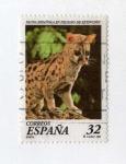 Stamps : Europe : Spain :  Fauna. Gineta en peligro de extinción