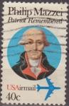 Sellos de America - Estados Unidos -  USA 1980 Scott C98 Sello Personajes Philip Mazzei usado Estados Unidos Etats Unis