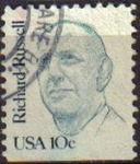 Stamps United States -  USA 1981 Scott 1853 Sello Personajes Richard Rusell usado Estados Unidos Etats Unis